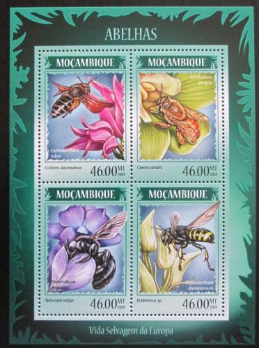 Poštovní známky Mosambik 2014 Vèely Mi# 7250-53 Kat 11€