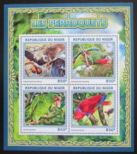 Poštovní známky Niger 2016 Papoušci Mi# 4542-45 Kat 13€