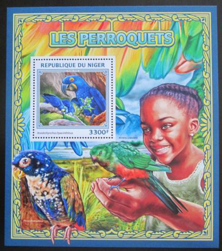 Poštovní známka Niger 2016 Papoušci Mi# Block 613 Kat 13€