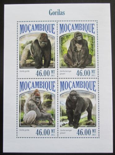 Poštovní známky Mosambik 2013 Gorily Mi# 6987-90 Kat 11€