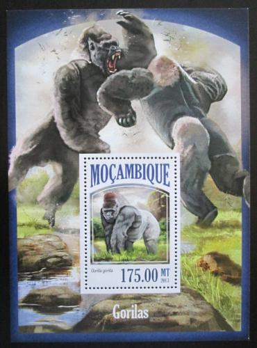 Poštovní známka Mosambik 2013 Gorily Mi# Block 837 Kat 10€