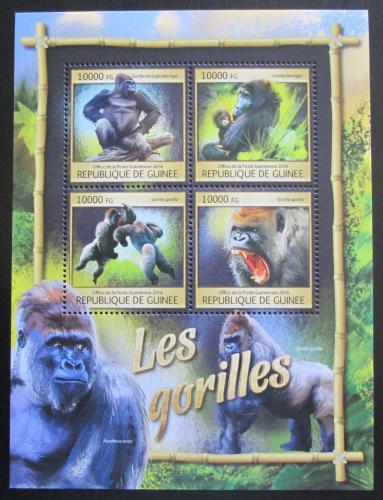 Poštovní známky Guinea 2016 Gorily Mi# 11891-94 Kat 16€