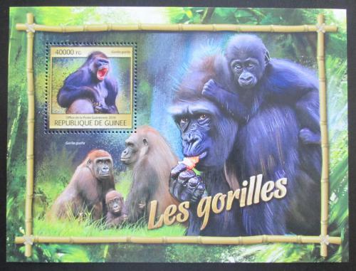 Poštovní známka Guinea 2016 Gorily Mi# Block 2674 Kat 16€