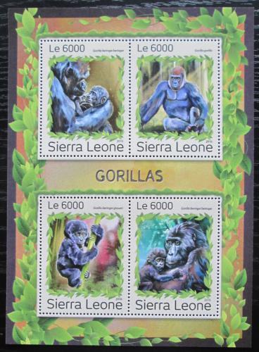 Poštovní známky Sierra Leone 2016 Gorily Mi# 8003-06 Kat 11€