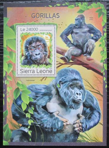Poštovní známka Sierra Leone 2016 Gorily Mi# Block 1133 Kat 11€