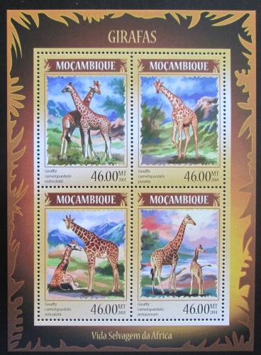 Poštovní známky Mosambik 2014 Žirafy Mi# Mi# 7320-23 Kat 11€