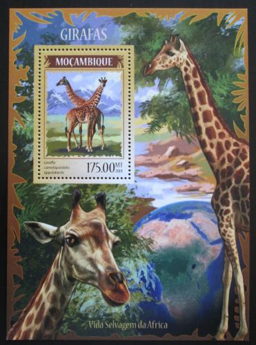 Poštovní známka Mosambik 2014 Žirafy Mi# Mi# Block 904 Kat 10€