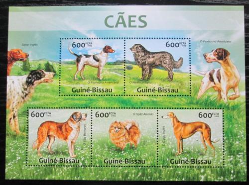 Poštovní známky Guinea-Bissau 2013 Psi Mi# 6590-94 Kat 12€
