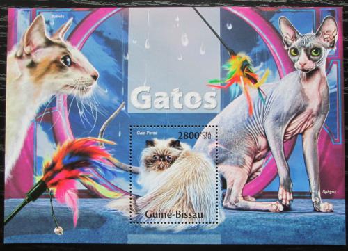 Poštovní známka Guinea-Bissau 2013 Koèky Mi# Block 1185 Kat 11€