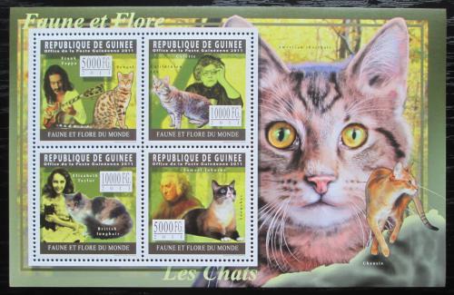 Poštovní známky Guinea 2011 Koèky Mi# 8329-32 Kat 12€