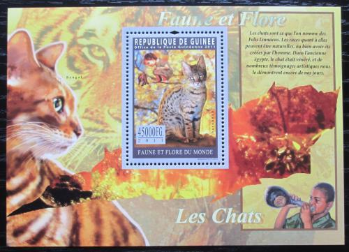 Poštovní známka Guinea 2011 Koèky Mi# Block 1947 Kat 18€