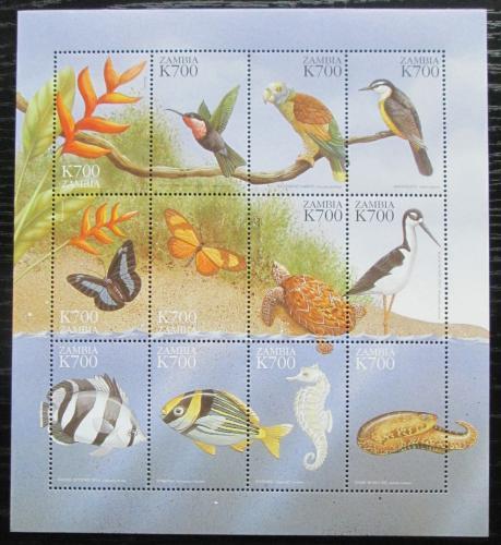 Poštovní známky Zambie 1999 Fauna a flóra Mi# 1045-56 Kat 12€