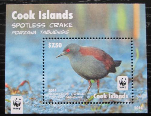 Poštovní známka Cookovy ostrovy 2014 Chøástal temný, WWF Mi# Block 248 Kat 13€