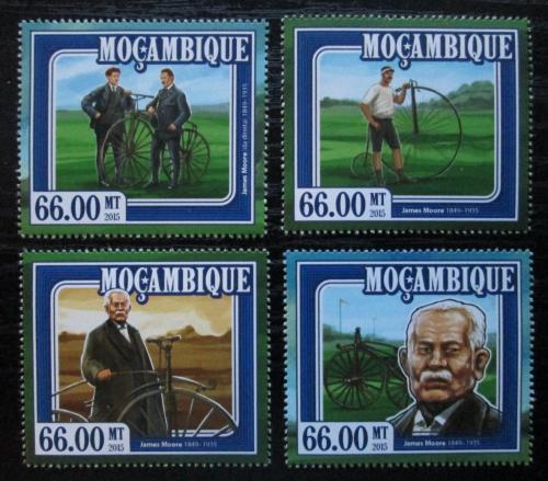 Poštovní známky Mosambik 2015 Dìjiny cyklistiky, James Moore Mi# 7795-98 Kat 15€
