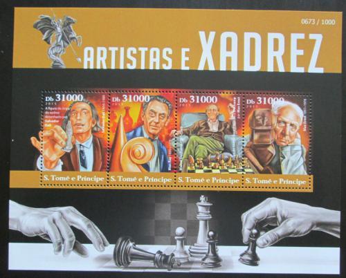 Poštovní známky Svatý Tomáš 2015 Šachy a osobnosti Mi# 6375-78 Kat 12€