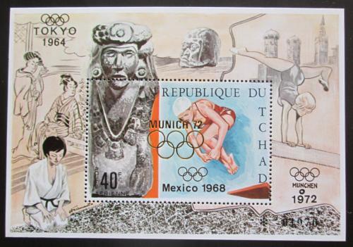 Poštovní známka Èad 1971 Letní olympijské hry pøetisk Mi# Block 27 Kat 20€