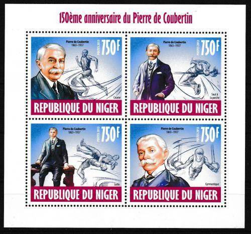 Poštovní známky Niger 2013 Pierre de Coubertin Mi# 2471-74 Kat 12€