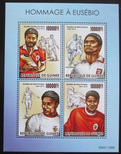 Poštovní známky Guinea 2015 Eusébio, legendární fotbalista Mi# 11373-76 Kat 16€