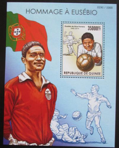 Poštovní známka Guinea 2015 Eusébio, legendární fotbalista Mi# Block 2571 Kat 14€