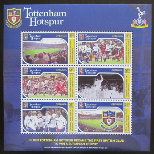 Poštovní známky Grenada 2002 Tottenham Hotspur Mi# 5059-64 Kat 9€