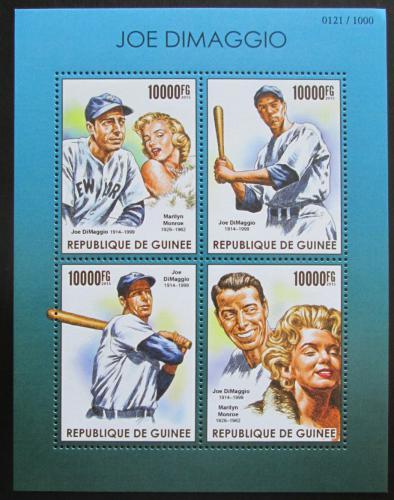 Poštovní známky Guinea 2015 Joe DiMaggio a Marilyn Monroe Mi# 11353-56 Kat 16€