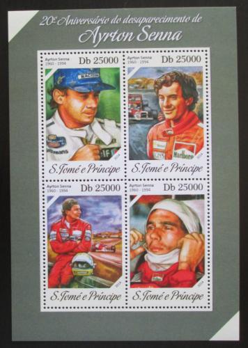 Poštovní známky Svatý Tomáš 2014 Ayrton Senna, Formule 1 Mi# 5549-52 Kat 10€