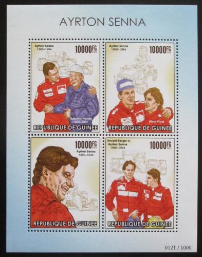 Poštovní známky Guinea 2015 Ayrton Senna, Formule 1 Mi# 11388-91 Kat 16€