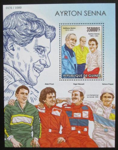 Poštovní známka Guinea 2015 Ayrton Senna, Formule 1 Mi# Block 2574 Kat 14€