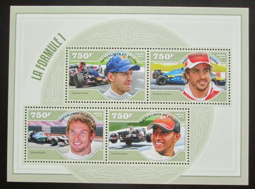 Poštovní známky Niger 2014 Jezdci Formule 1 Mi# 3100-03 Kat 12€