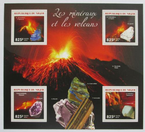 Poštovní známky Niger 2014 Sopky a minerály Mi# 3002-05 Kat 13€