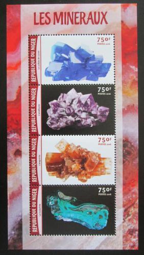 Poštovní známky Niger 2016 Minerály Mi# 4167-70 Kat 12€