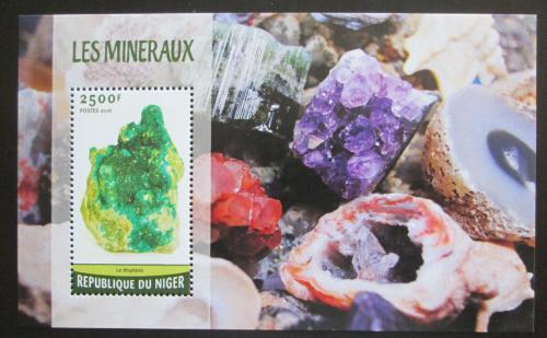 Poštovní známka Niger 2016 Minerály Mi# Block 538 Kat 10€