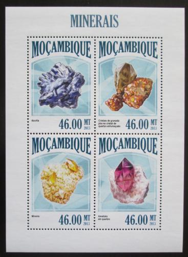 Poštovní známky Mosambik 2013 Minerály Mi# 6792-95 Kat 11€