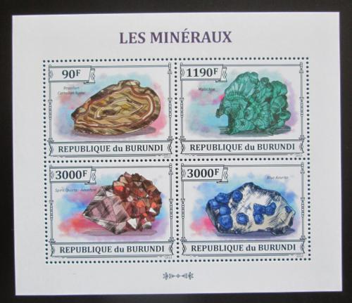 Poštovní známky Burundi 2013 Minerály Mi# 3213-16 Bogen Kat 8.90€