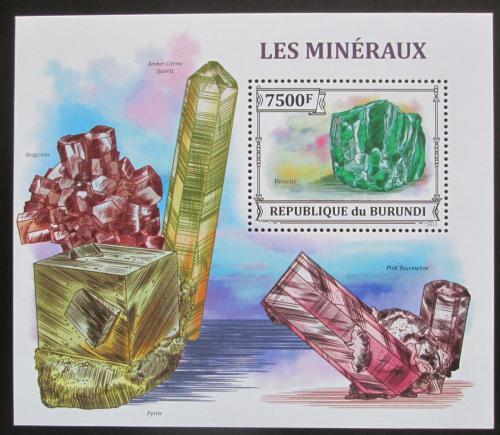 Poštovní známka Burundi 2013 Minerály Mi# Block 367 Kat 9€