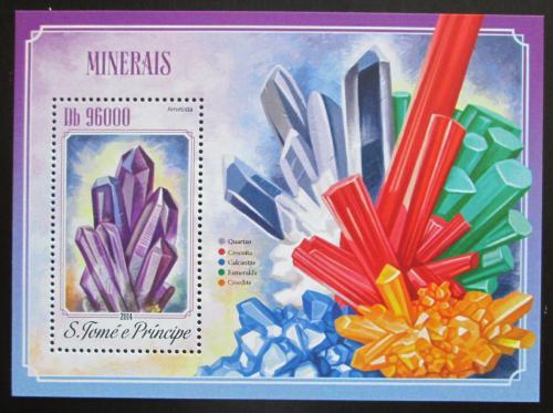 Poštovní známka Svatý Tomáš 2014 Minerály Mi# Block 1012 Kat 10€