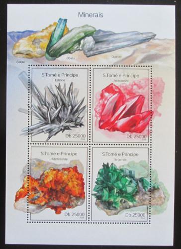 Poštovní známky Svatý Tomáš 2014 Minerály Mi# 5564-67 Kat 10€
