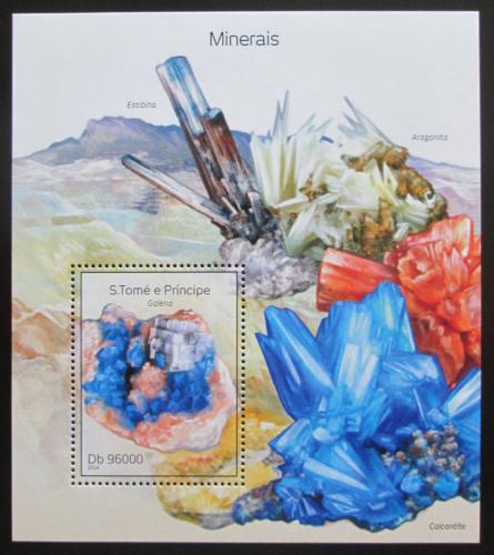 Poštovní známka Svatý Tomáš 2014 Minerály Mi# Block 972 Kat 10€