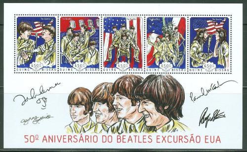 Poštovní známky Guinea-Bissau 2014 The Beatles Mi# 7137-41 Kat 13€