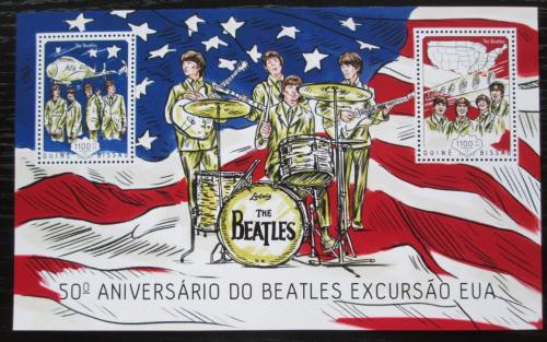 Poštovní známky Guinea-Bissau 2014 The Beatles Mi# Block 1249 Kat 8.50€