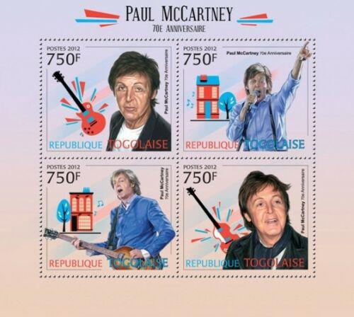Poštovní známky Togo 2012 Paul McCartney, The Beatles Mi# 4548-51 Kat 12€