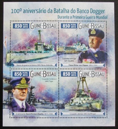 Poštovní známky Guinea-Bissau 2015 Bitva u Dogger Banku Mi# 8120-23 Kat 14€