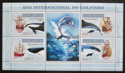Poštovní známky Guinea-Bissau 2007 Mezinárodní rok delfínù Mi# 3546-49 Kat 7€