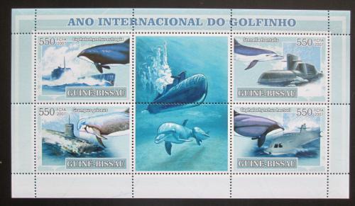 Poštovní známky Guinea-Bissau 2007 Mezinárodní rok delfínù Mi# 3554-57 Kat 9€
