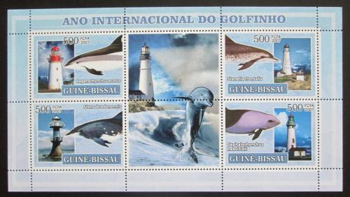 Poštovní známky Guinea-Bissau 2007 Mezinárodní rok delfínù Mi# 3550-53 Kat 8€
