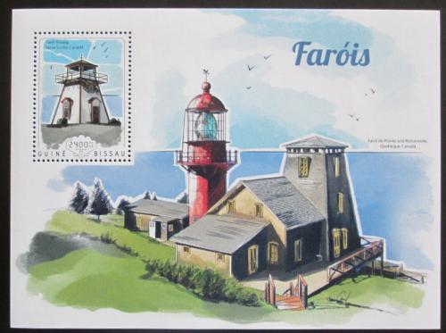 Poštovní známka Guinea-Bissau 2014 Majáky Mi# Block 1297 Kat 9€