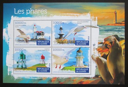 Poštovní známky Guinea 2015 Majáky Mi# 11188-91 Kat 16€