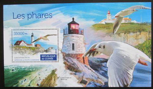Poštovní známka Guinea 2015 Majáky Mi# Block 2534 Kat 14€