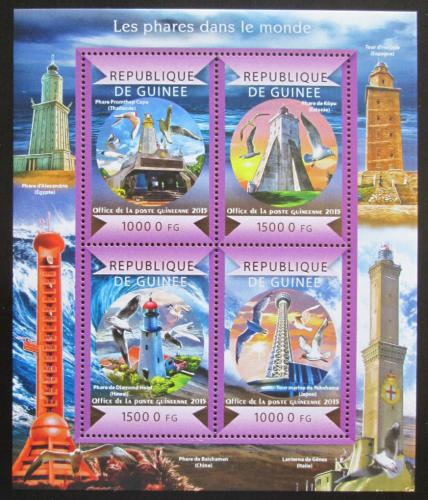 Poštovní známky Guinea 2015 Majáky Mi# 11007-10 Kat 20€