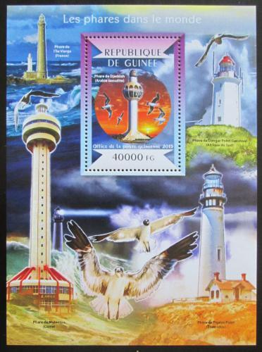 Poštovní známka Guinea 2015 Majáky Mi# Block 2497 Kat 16€